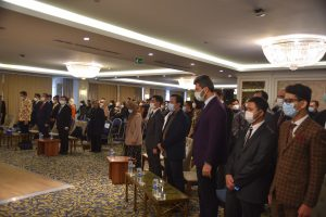 All Participants were singing national anthem